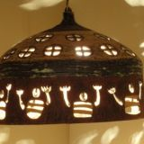 0027.  lampa neolityczni  marynarze tacz dla slonca - lamp neolithic sailors are dancing for the sun 31 x 42 cm