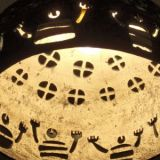 0028.  lampa neolityczni  marynarze tacz dla slonca - lamp neolithic sailors are dancing for the sun 31 x 42 cm