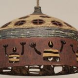 0030.  lampa neolityczni  marynarze tacz dla slonca - lamp neolithic sailors are dancing for the sun 31 x 42 cm