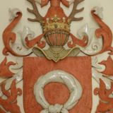 0044. herb nalecz - nalecz coat of arms  90 x 68 x 9 cm