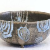 0043. miska w kolka - bowl with circles 10 x 20 cm